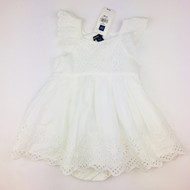 New with Tags! Baby Gap White Eyelet Dress with Diaper Cover