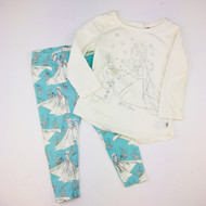 Baby Gap Frozen Elsa Top with Teal Leggings