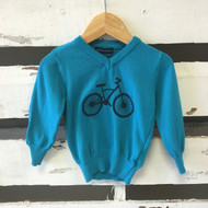 Andy  & Evan Turquoise Bicycle Sweater