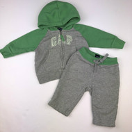 Baby Gap Grey with Green Jogging Suit