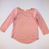 Baby Gap Pink with Glitter Stars Top