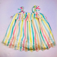 Baby Gap Pastel  Stripe Eyelet Sun Dress