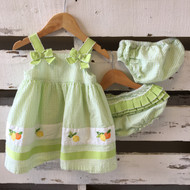 Gymboree Green Citrus Searsucker Dress & Two Diaper Covers