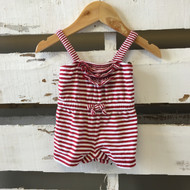 baby Gap Red & White Stripe Romper