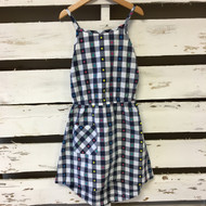 New! Hanna Anderrsson Gingham Hi-Low Dress