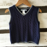 Janie & Jack Navy Blue Knit Vest