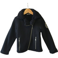3 Pommes Bomber Style Fleece Jacket