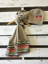 Covington 3 Pommes Hat & Scarf Set