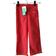 New! 3 Pommes Red Fringe Pants