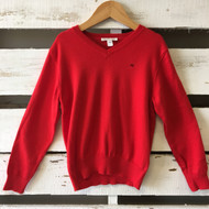 Marie Chantal Red V Neck Sweater