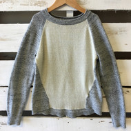 Gap Kids Ivory & Grey Block Sweater