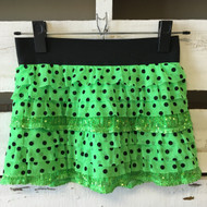 Justice Polka Dot & Sequin Ruffle Skirt