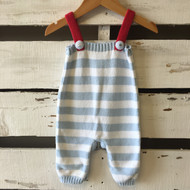 Victoria Kids Knit Striped  Suspender Pants