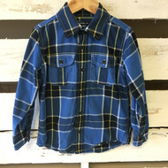 Baby Gap Blue & Yellow Plaid Button Down Shirt