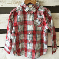 New! Janie & Jack Red Plaid Button Down Shirt