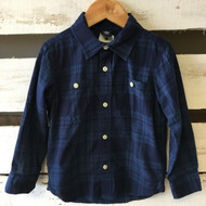 Baby Gap Navy Plaid Button Up Shirt
