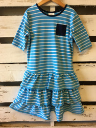 Hanna Andersson Blue & White Stripe Dress