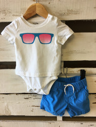 Baby Gap Sunglasses Onesie Shorts Set