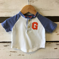 Baby Gap Blue Sleeve Baseball Tee