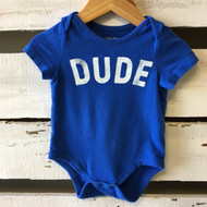Baby Gap Blue 'DUDE' Bodysuit