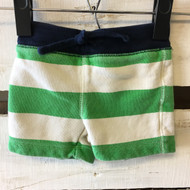 Baby Gap Green and Ivory Stripe Cotton Shorts