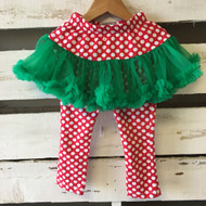 Mudpie Holiday Tutu with Leggings