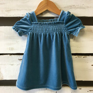 Baby Gap Teal Velvet Dress & Diaper Cover