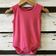 Baby Gap Pink Ribbed Short Sleeve Bodysuit