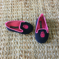 Baby Gap Navy & Hot Pink Owl Slippers
