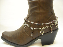 Boot Candy Amethyst Crystals and Hearts
