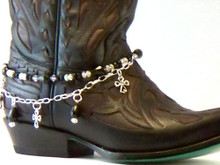 Boot Candy Black Crystals and Crosses