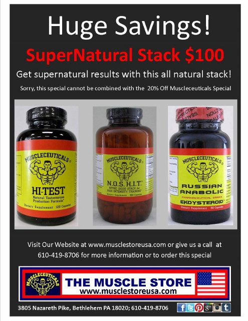 Supernatural Stack: 1 Hi-Test, 1 NOSHIT & 1 Russian Anabolic