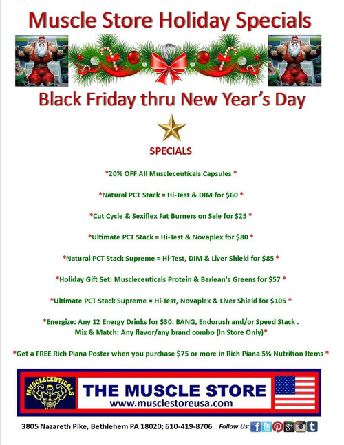 Muscle Store 2018 Holiday Specials