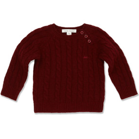 100% CASHMERE CABLE SWEATER