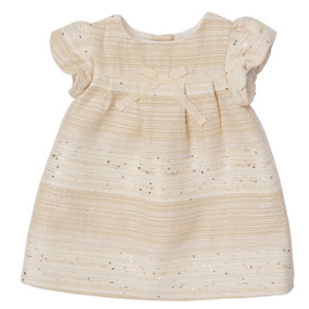 Mini Ecru Summer Tweed dress