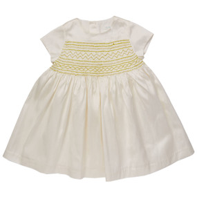 Mini Summer Silk Hand Smocked Dress