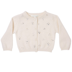 Mini Cashmere Sparkle Cardigan