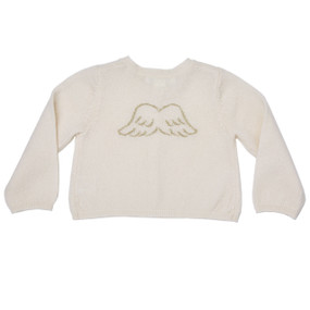 Mini Cashmere Gold Angel Wing Cardigan