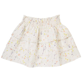 Painted Flower Ra Ra Skirt