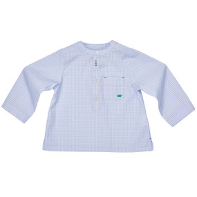 Gingham Grandad Shirt