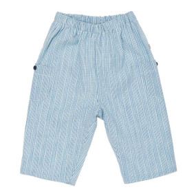 Cotton Check Pull on Pant