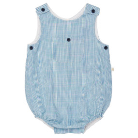 Summer Check Bubble romper