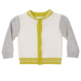 Mini Varsity Cotton Cardigan