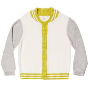 Varsity Cotton Cardigan