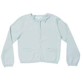 Summer Bow Cotton Cardigan - Mint