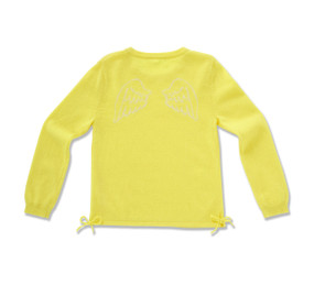 ANGEL WING INTARSIA SWEATER - NEON YELLOW
