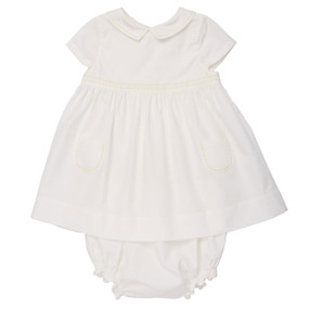 Mini Poplin Dress - Off White