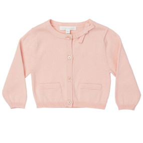Mini Summer Bow Cotton Cardigan - Pink