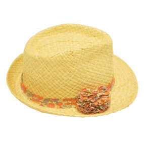 Straw Hat - Liberty Print