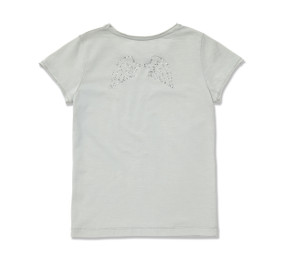 DIAMANTE WING TEE - PALE GREY